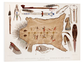 Foam board print  buffalo robe and other articles of the mandans - Karl Bodmer