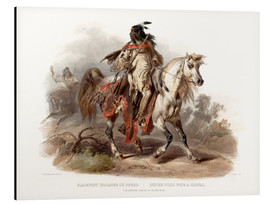 Alu-Dibond  A Blackfoot indian on horseback - Karl Bodmer