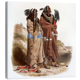 Canvas  maksic karehde and sih chida two mandans - Karl Bodmer