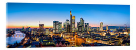 Acrylic glass  Skyline panorama from Frankfurt - Jan Christopher Becke