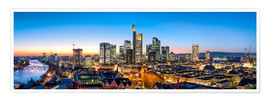 Premium poster  Skyline panorama from Frankfurt - Jan Christopher Becke