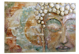Foam board print  Buddha -Happiness - Christine Ganz