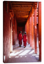 Canvas  Two young monks in a monastery, Nepal - Matteo Colombo