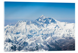 Acrylic print  Aerial view of Mount Everest in the Himalaya - Matteo Colombo