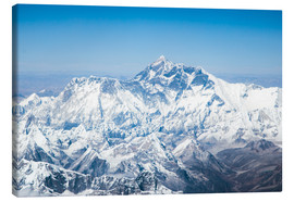 Canvas  Aerial view of Mount Everest in the Himalaya - Matteo Colombo