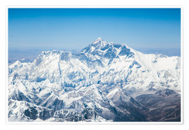 Premium poster Aerial view of Mount Everest in the Himalaya