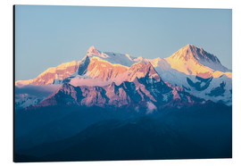 Aluminium print  Annapurna mountain range at sunset, Nepal - Matteo Colombo