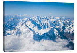 Canvas  Aerial view of mount Everest, Himalaya - Matteo Colombo
