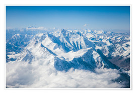 Premium poster  Aerial view of mount Everest, Himalaya - Matteo Colombo
