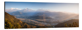 Aluminium print  Annapurna mountain range at sunrise, Nepal - Matteo Colombo