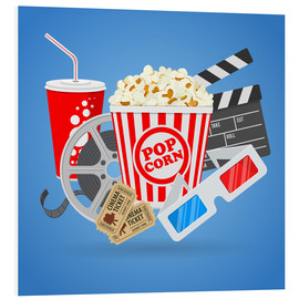 Foam board print  Cinema and Movie time - TAlex