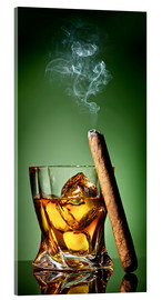 Acrylic glass  Cigar on the rocks