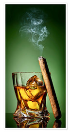 Premium poster Cigar on the rocks