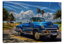 Canvas print  Vintage blue taxi