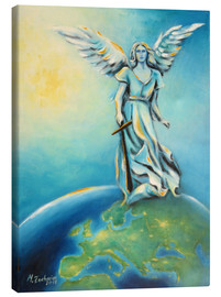 Canvas  Archangel Michael - Hand painted Angel Art - Marita Zacharias
