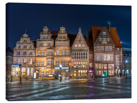Canvas  Gabled houses Marktplatz Bremen - Rainer Ganske