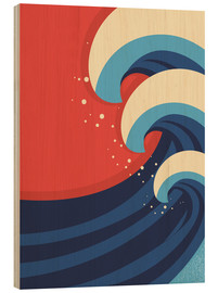 Wood print  The Great Wave