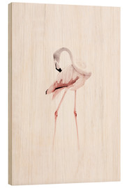 Wood print  The Flamingo - Jaysanstudio
