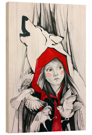 Wood print  Once Upon a time - Anna Hammer