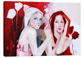 Canvas print  White and red - Anna Hammer