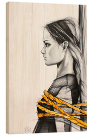 Wood print  without saying a word - Anna Hammer