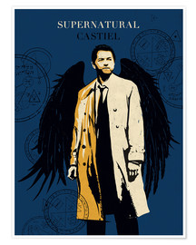 Premium poster Alternative Castiel Supernatural art print