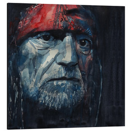 Aluminium print  Always On My Mind - Willie Nelson - Paul Lovering Arts