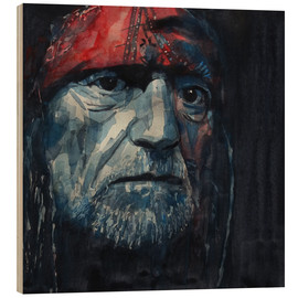 Wood print  Always On My Mind - Willie Nelson - Paul Lovering Arts