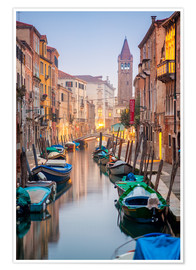 Premium poster Romantic Cityscape of Venice at dusk