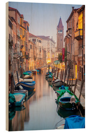 Wood  Romantic Cityscape of Venice at night - Jan Christopher Becke