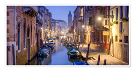Premium poster Venice panorama at night