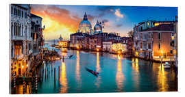 Acrylic print  Grand Canal in Venice at night, Italy - Jan Christopher Becke