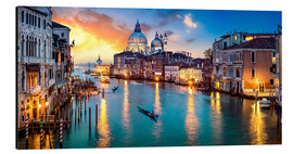 Aluminium print  Grand Canal in Venice at night, Italy - Jan Christopher Becke