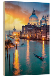 Wood print  Grand Canal with Santa Maria della Salute in Venice, Italy - Jan Christopher Becke
