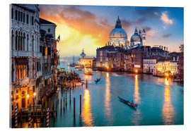 Acrylic glass  Grand Canal at sunset in Venice, Italy - Jan Christopher Becke