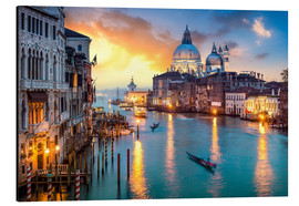Alu-Dibond  Grand Canal at sunset in Venice, Italy - Jan Christopher Becke