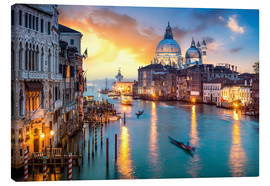 Canvas print  Grand Canal at sunset in Venice, Italy - Jan Christopher Becke