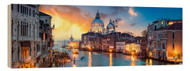 Wood print  Canal Grande panorama in Venice, Italy - Jan Christopher Becke