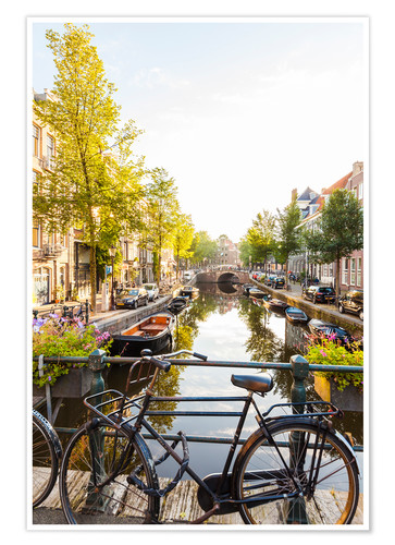 Premium poster Amsterdam canal