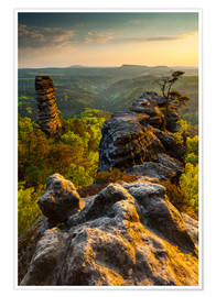 Premium poster  Saxon Switzerland - Sunset - Mikolaj Gospodarek