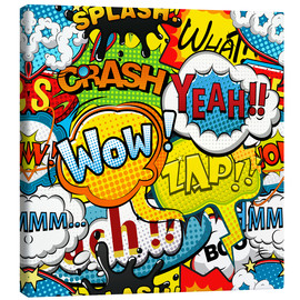Canvas print  Comic style speech bubbles - Kidz Collection