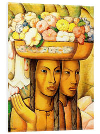 Foam board print  Flower Sellers - Alfredo Ramos Martinez