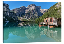 Canvas  Braies Lake South Tyrol - Achim Thomae