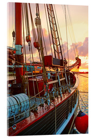 Acrylic print  Sunset at the port in Wismar - Die Farbenflüsterin