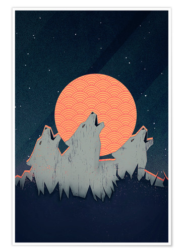 Premium poster Howling Moon