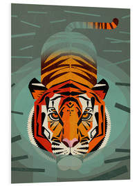 Foam board print  Swimming tiger - Dieter Braun