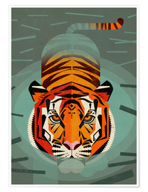 Premium poster Swimming tiger