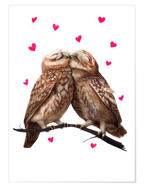 Poster  Lovely owls - Valeriya Korenkova
