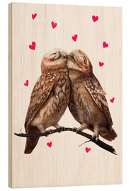 Wood print  Loving owls - Valeriya Korenkova