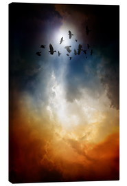 Canvas print  Lit Flock